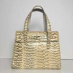 Authentic Vintage 80s python handbag